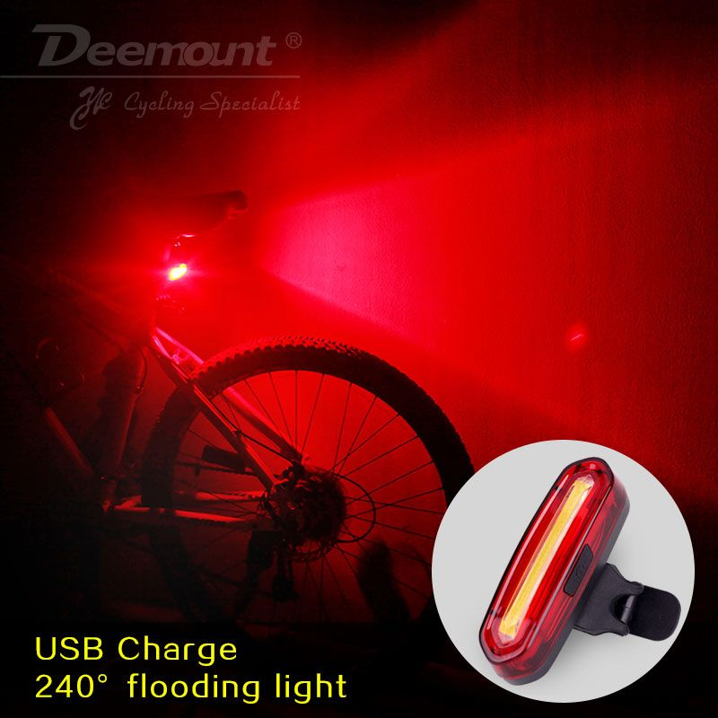 Bicycle Light USB Bike LED Taillight Rear Tail Safety Warning Cycling Mountain