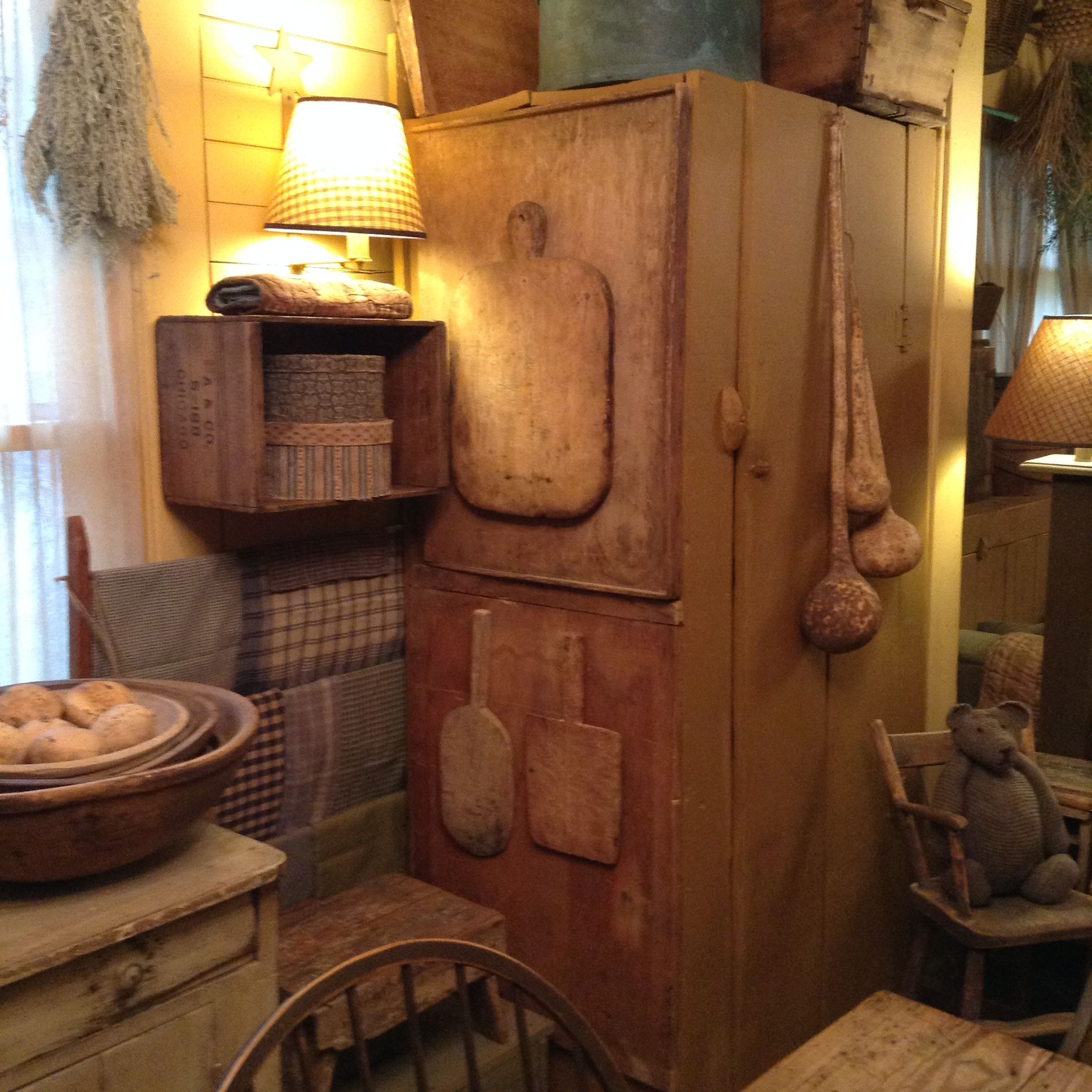 Primitive Dining Rooms Cabinets Kitchen Antiques Country Decor Homes Gatherings