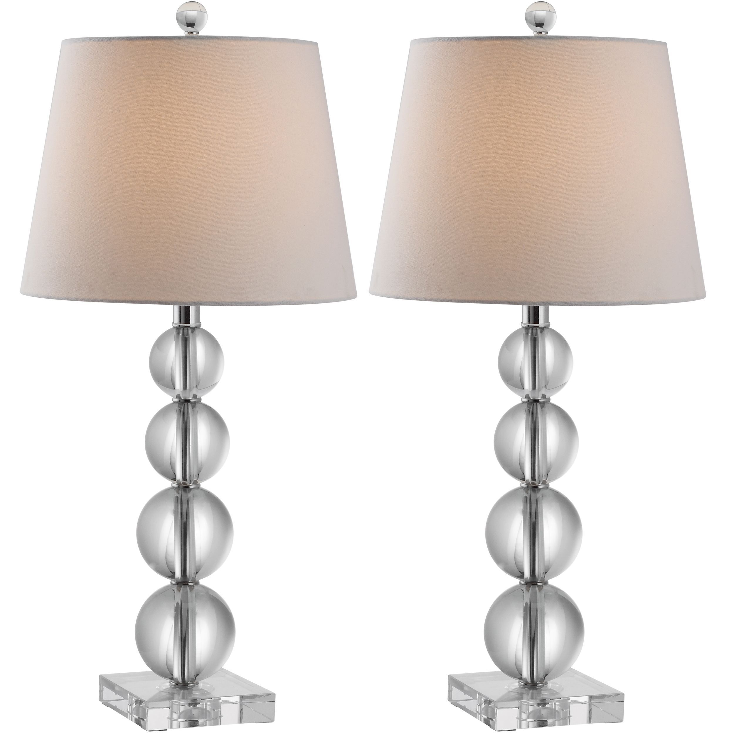 Safavieh lighting 265 inch millie crystal table lamps set of 2 safavieh lighting 265 inch millie crystal table lamps aloadofball Images