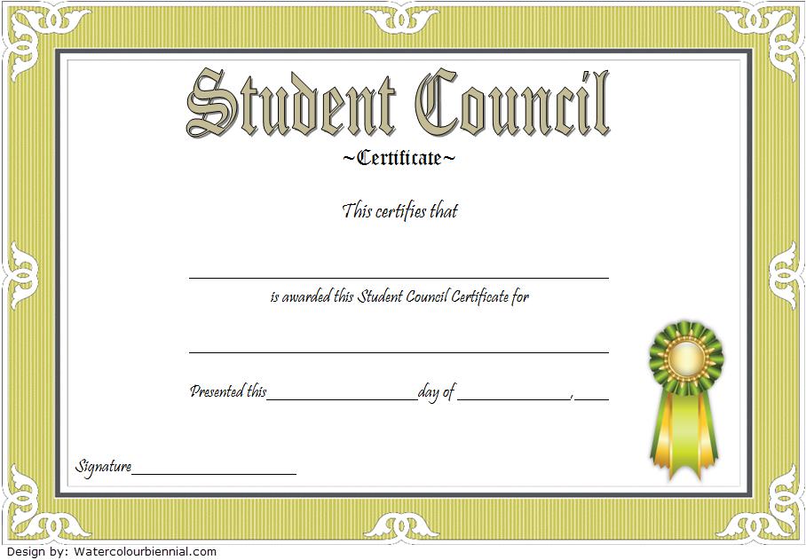 Student Council Award Certificate Template Free 2 Student Certificates Awards Certificates Template Certificate Templates