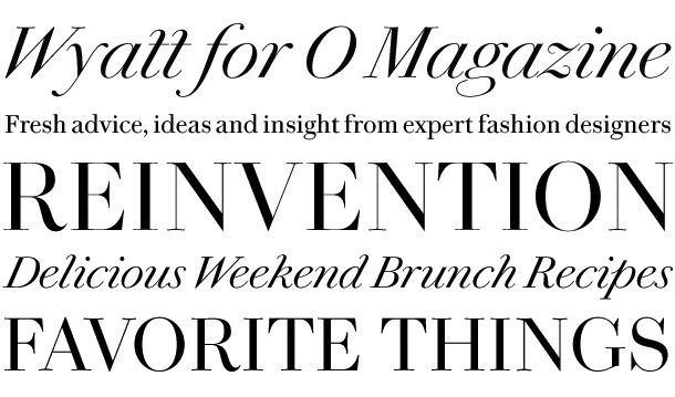 Paul Barnes's Wyatt for O Magazine #display | Typefaces | Pinterest