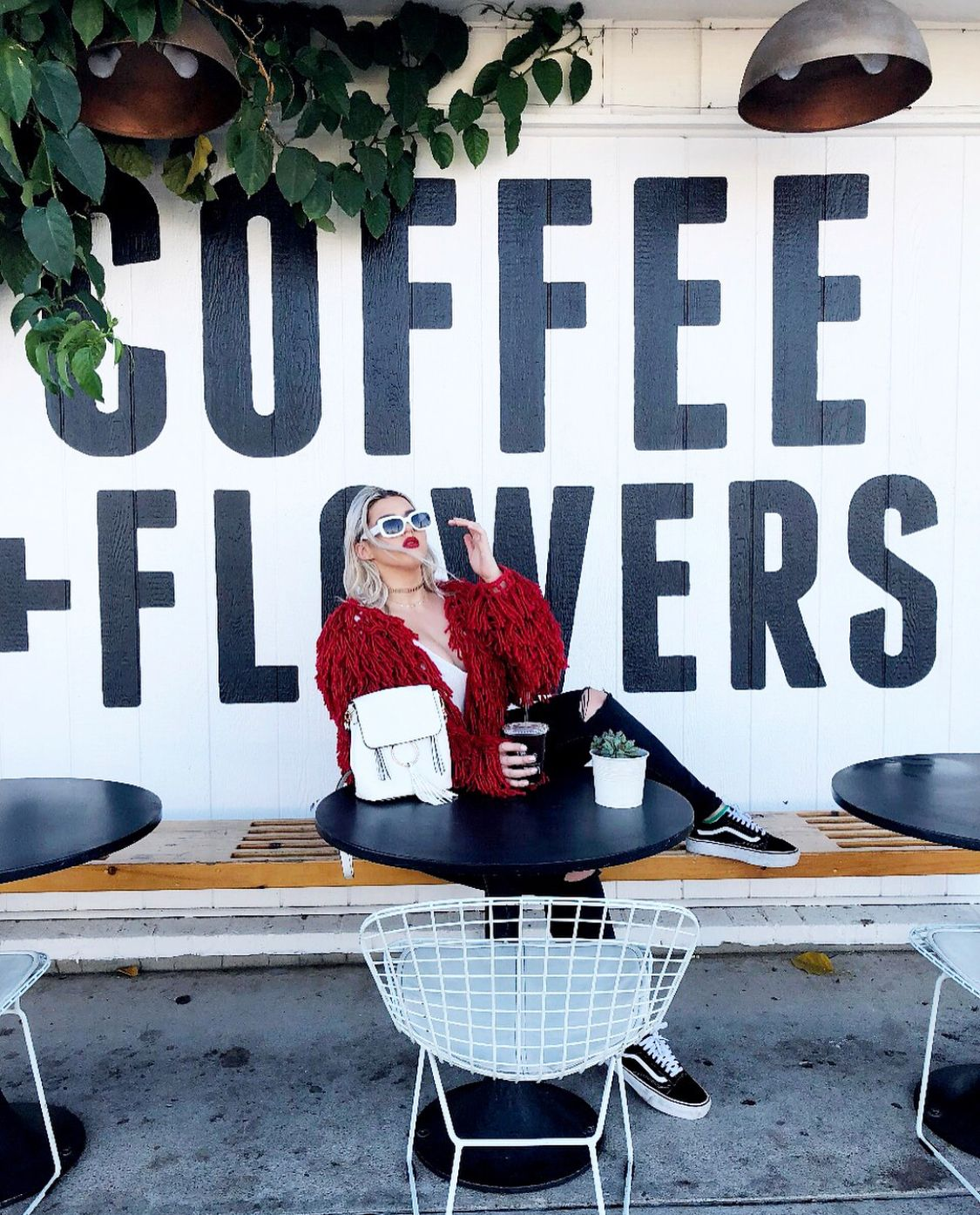 84591107d6  cristinalaforg fashion blogger style blog flowers coffee vans love women s  style California San Diego north park communal coffee travel west coast