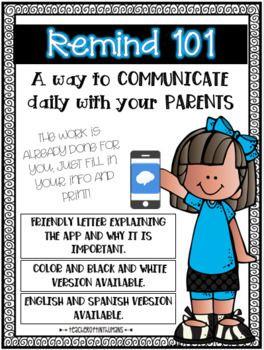 Parent Letter for Remind App Letter to parents, Remind