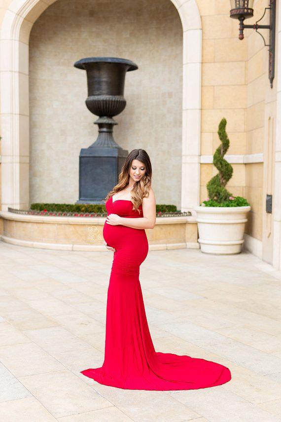 d70574abb085e The Jessica strapless maternity gown features an elegant adjustable  sweetheart neckline and an extended-length skirt that hugs to the knee,  then cascades ...