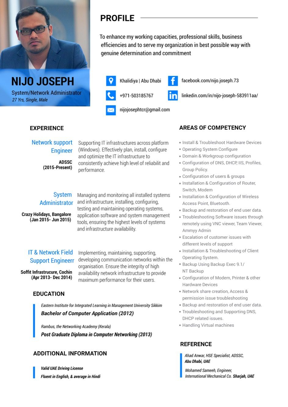 Resume Design System Administrator  My Ps Workz