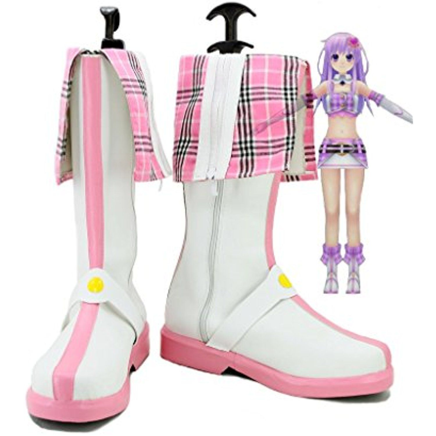 Choujigen Game Neptune Anime Nepgear Cosplay Shoes Boots Custom Made