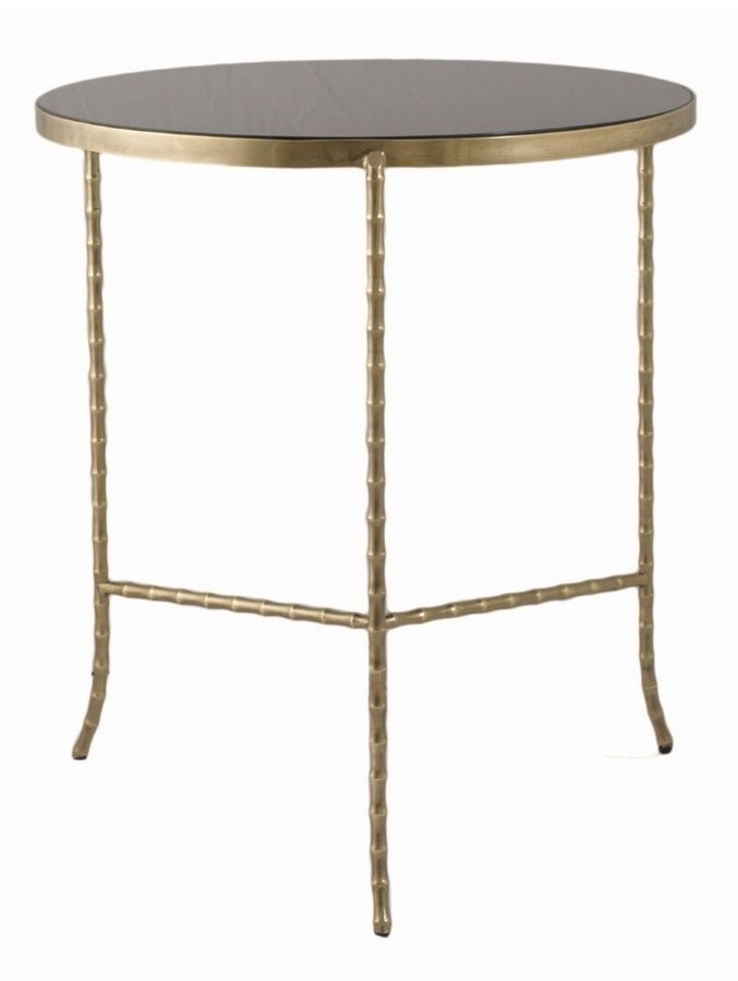 Argo Zinc Top Round Side Table Complete Pad Shop Side Tables - Black and brass side table