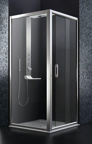 Arblu - VIRGO LATO AGGIUNTIVO /  STANDARD: Parete doccia con telaio H. 190 cm/ Cristallo temperato sp. 6 mm