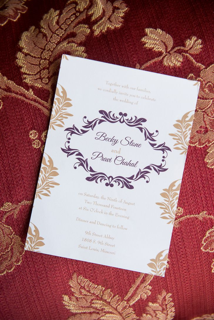 Elegant Purple and Gold Invitations | Julia Noack Photography https ...