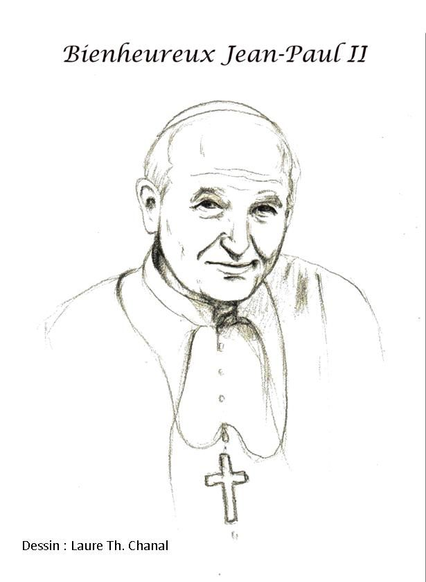 Bl Pope John Paul Ii Catholic Coloring Page Feast Day Is October