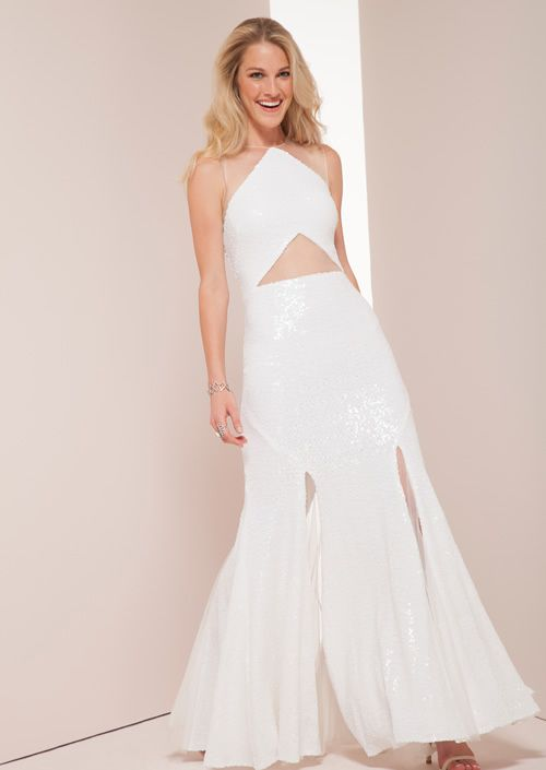 Cabaret Vintage - Black or White Long Evening Dress by Mignon ...