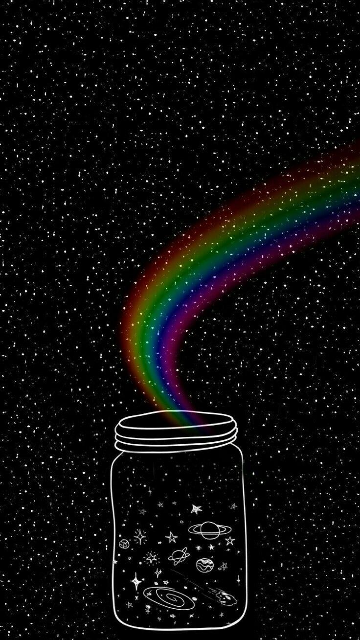 Para você que está triste você no arco-íris que sai da terra e rodei o mundo todo