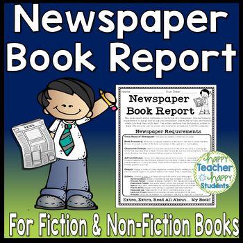 Newspaper Book Report Fiction  Non-Fiction Book Report Newspaper - book report sample