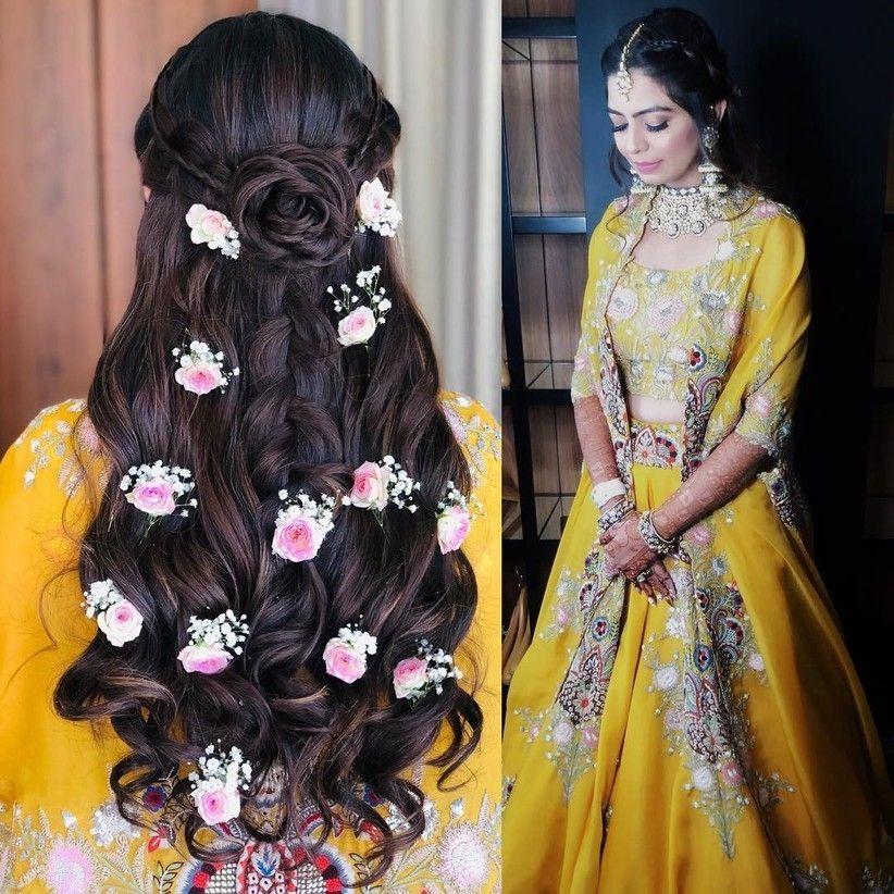 26 Populer Indian Wedding Hairstyle Step By Step In 2020 Open Hairstyles Indian Wedding Hairstyles Long Hair Wedding Styles
