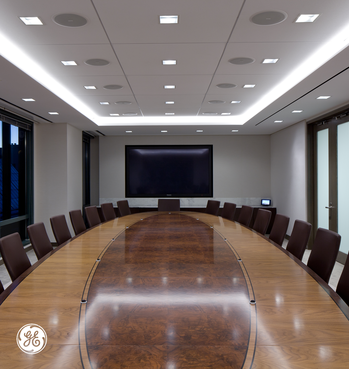Cove Lighting In A Conference Room. Along With A Soffit
