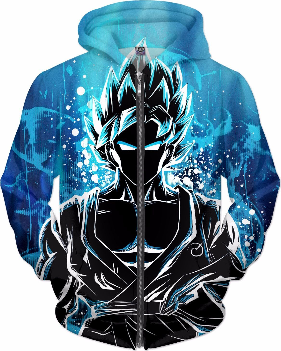 Goku Super Saiyan God Zip Up Hoodie