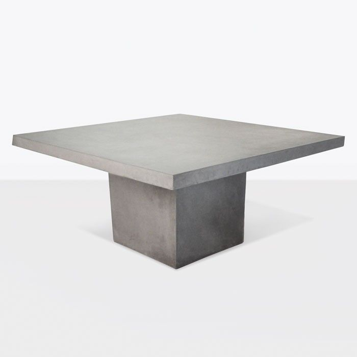 Create A Modern Outdoor Dining E With The Raw Concrete Square Pedestal Table This Patio In Is Stunning And Will