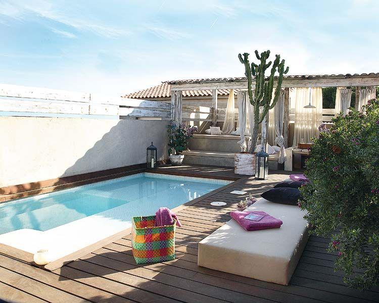 Pin de micasa revista en jardines y terrazas garden pool - Minipiscinas para terrazas ...