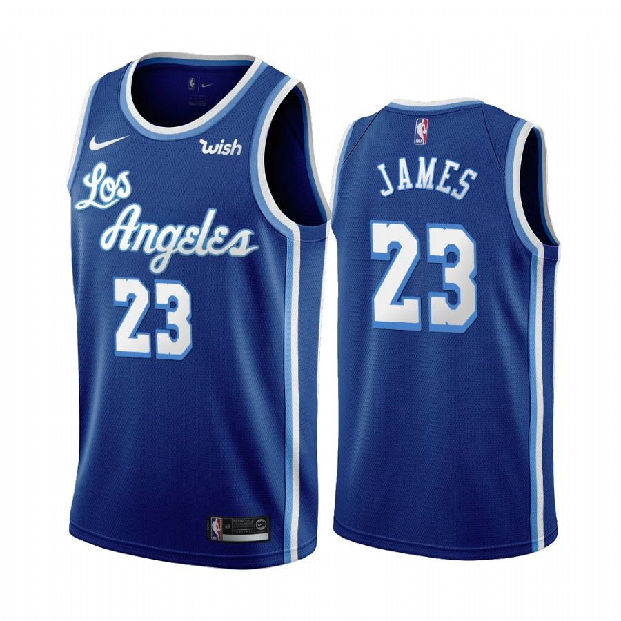 Los Angeles Lakers Lebron James Blue 2019 20 Classic Edition Jersey Los Angeles Lakers Lakers Basketball Jersey