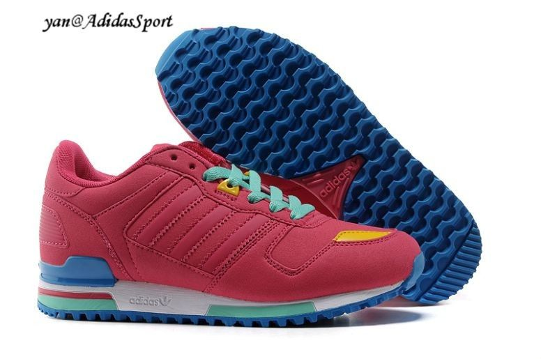 Adidas Originals ZX 750 Womens running shoes watermelon Red /Turquoise/Yellow/Blue HOT