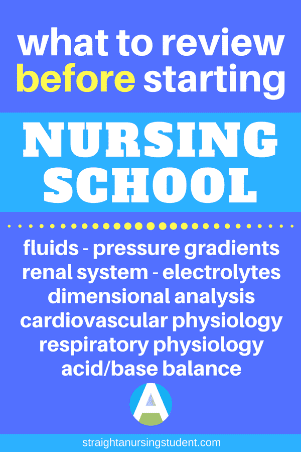 What to review before nursing school starts - Straight A Nursing