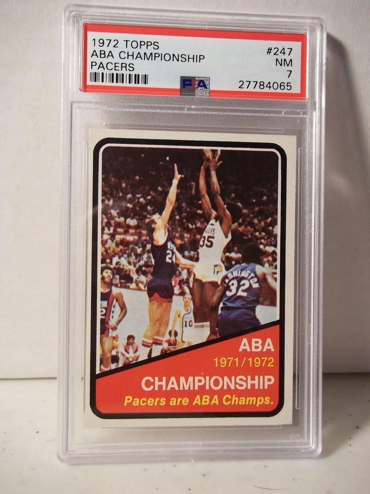 1972 topps aba championship psa nm 7 basketball card 247