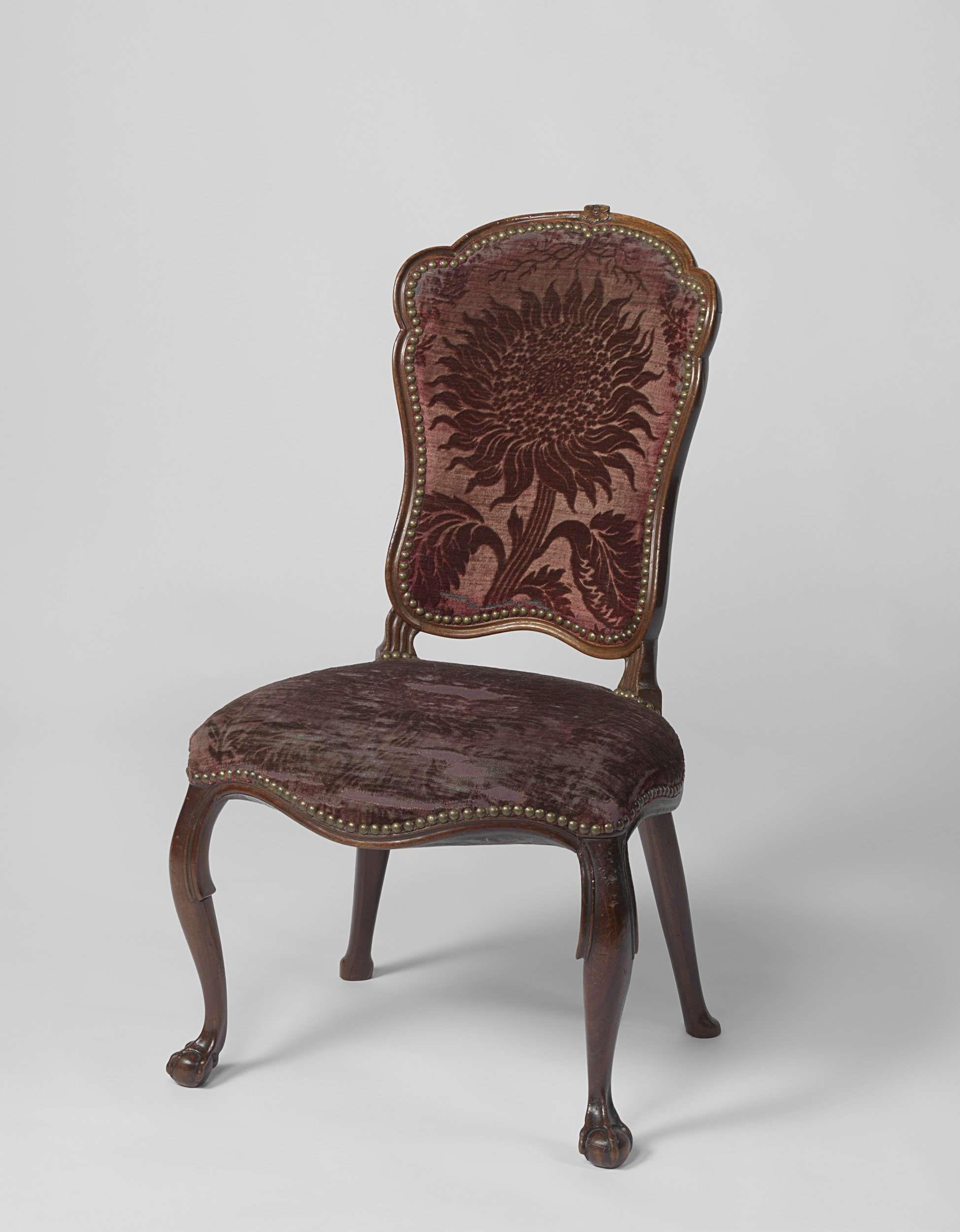 Netherlands Rococo Chair Ca 1760 Ca 1775 Sunflower Motif