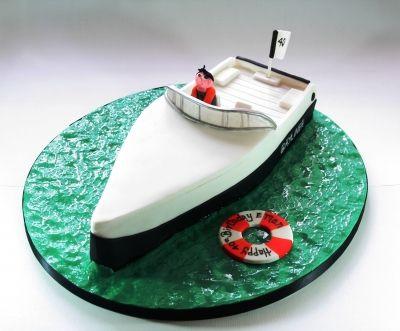 Speed Boat Birthday Cake Boat Cake Nautical Cake