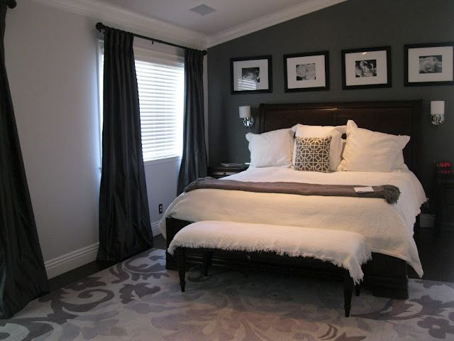 One Dark Wall With Three Lighter Walls Perfect For A Nightshifter But Light Enough For Being On A N Gray Master Bedroom Home Bedroom Beautiful Bedrooms Master
