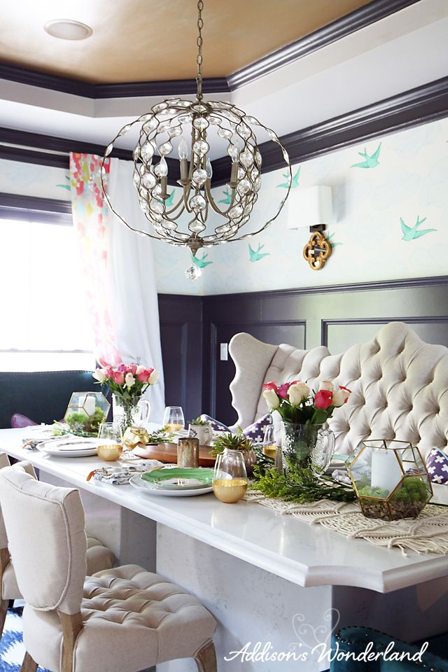 Vintage Chic Dinner Party at Home