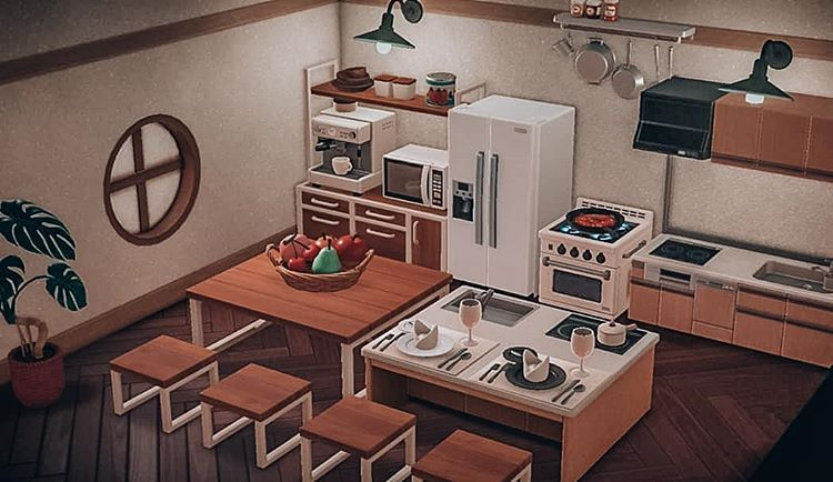 My kitchen space! I didn't want to add too many wall items ... on Kitchen Items Animal Crossing  id=66544