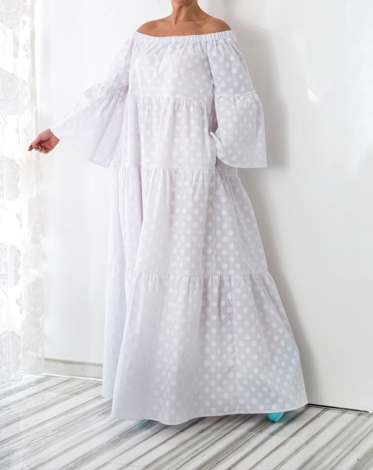 New ss collection white maxi dress boho dress plus size dress