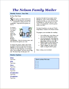 Family Newsletter Pages Download At HttpWwwTemplateinnCom