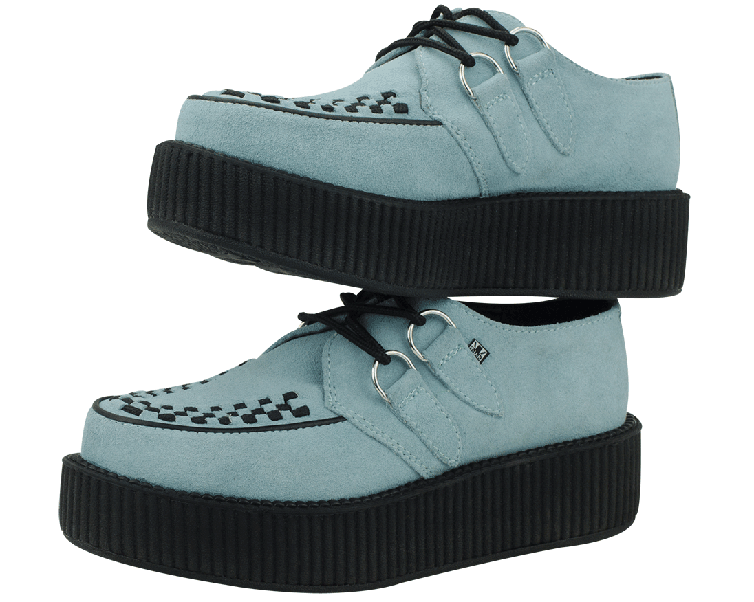 Baby Blue Suede Viva Mondo Creepers | T.U.K. Shoes