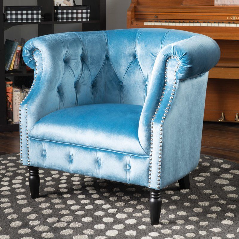 This Lenita New Velvet Chesterfield Chair is a perfect