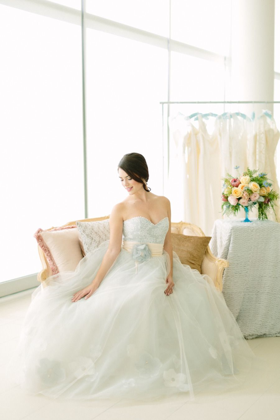 Pastel wedding inspiration shoot blue wedding dresses wedding