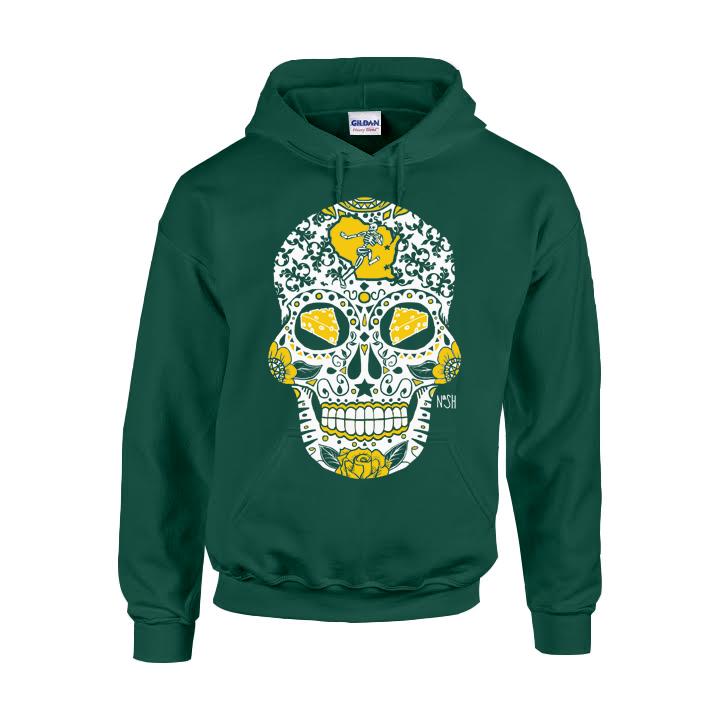 Packers Sugar Skull Hoodie – America s Finest Apparel f37c0a699