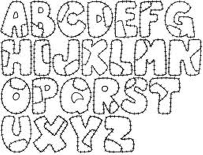 Molde de letras para hacer en foami - Imagui