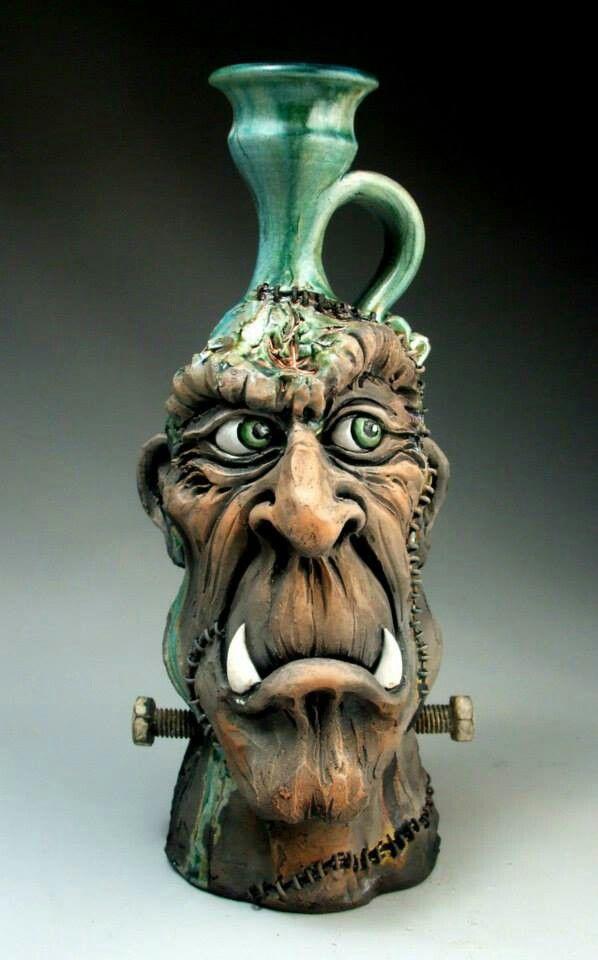 Mitchell Grafton Pottery   Frankenstein