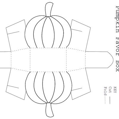 Free Printable Pumpkin Favor Box Template | Box templates, Favors ...