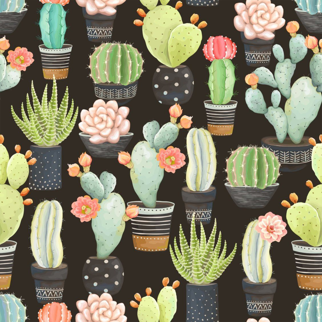 """Cactus"" Art by PixyDeco on Society6 