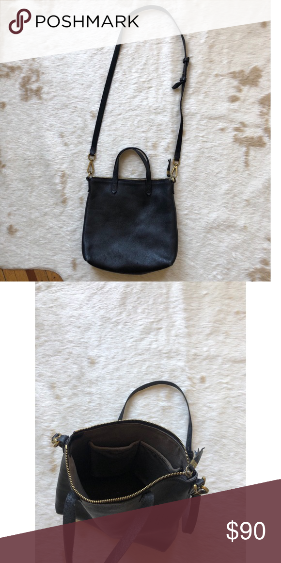8c98842ecfdd Madewell zip-top transport crossbody Cross body leather bag Madewell Bags  Crossbody Bags