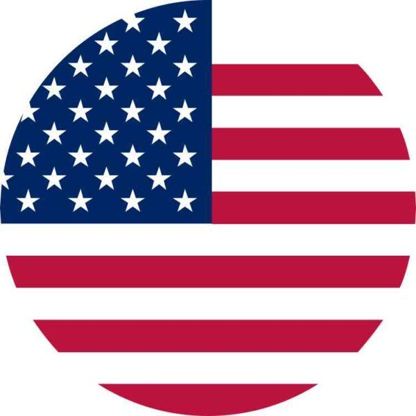 5in X 5in Circular American Flag Sticker Vinyl Flags Car Bumper Stickers American Flag Background American Flag Sticker American Flag Wallpaper
