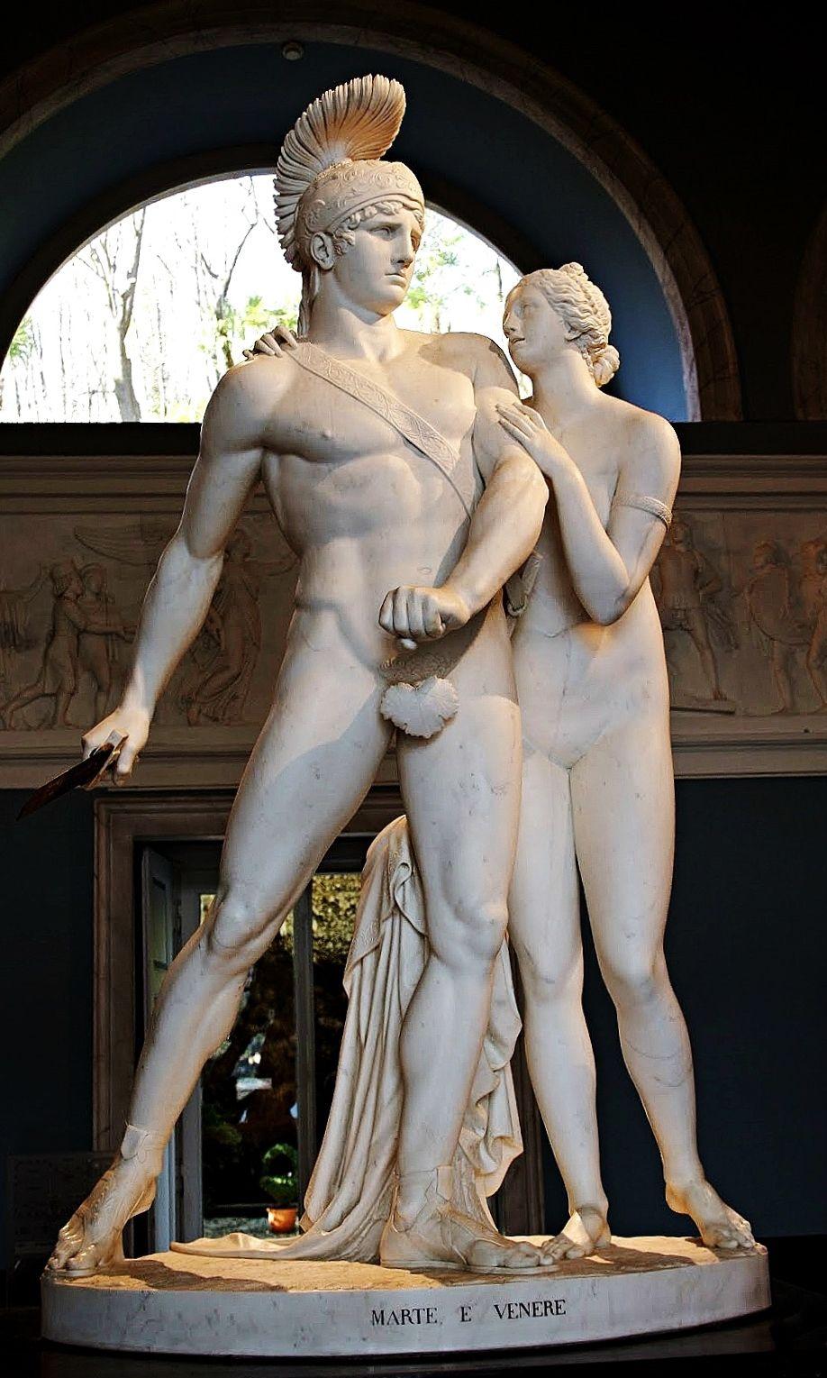 Mars and Venus. 19th.century. Luigi Acquisti. Italian 1745-1821. marble. Villa Carlotta. Lake Como. http://hadrian6.tumblr.com