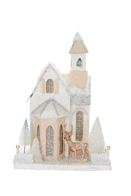 Décor église enneigée #decorationeglise