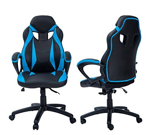Merax Ergonomic Racing Style Pu Leather Gaming Chair For Home And