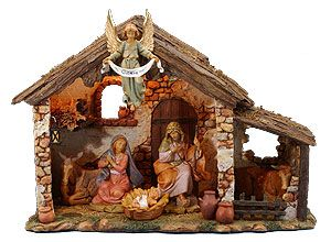 5 Inch Scale Lighted Stable By Fontanini Figures Not Included Nativity Scene Display Nativity Set Nativity Stable