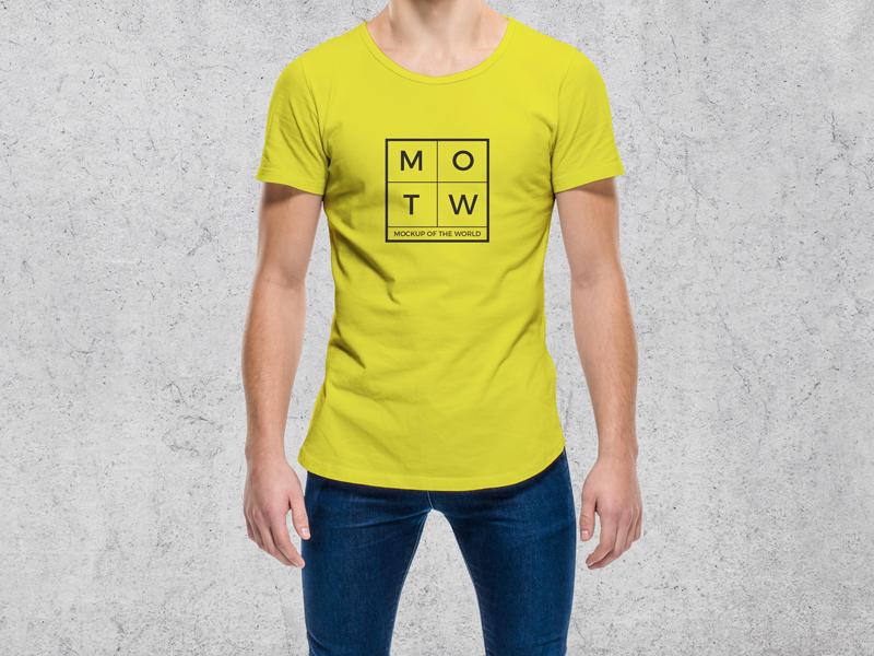 Download Young Cool Guy Wearing Round Neck T Shirt Mockup Shirt Mockup Photoshop Mockup Free Free Mockup