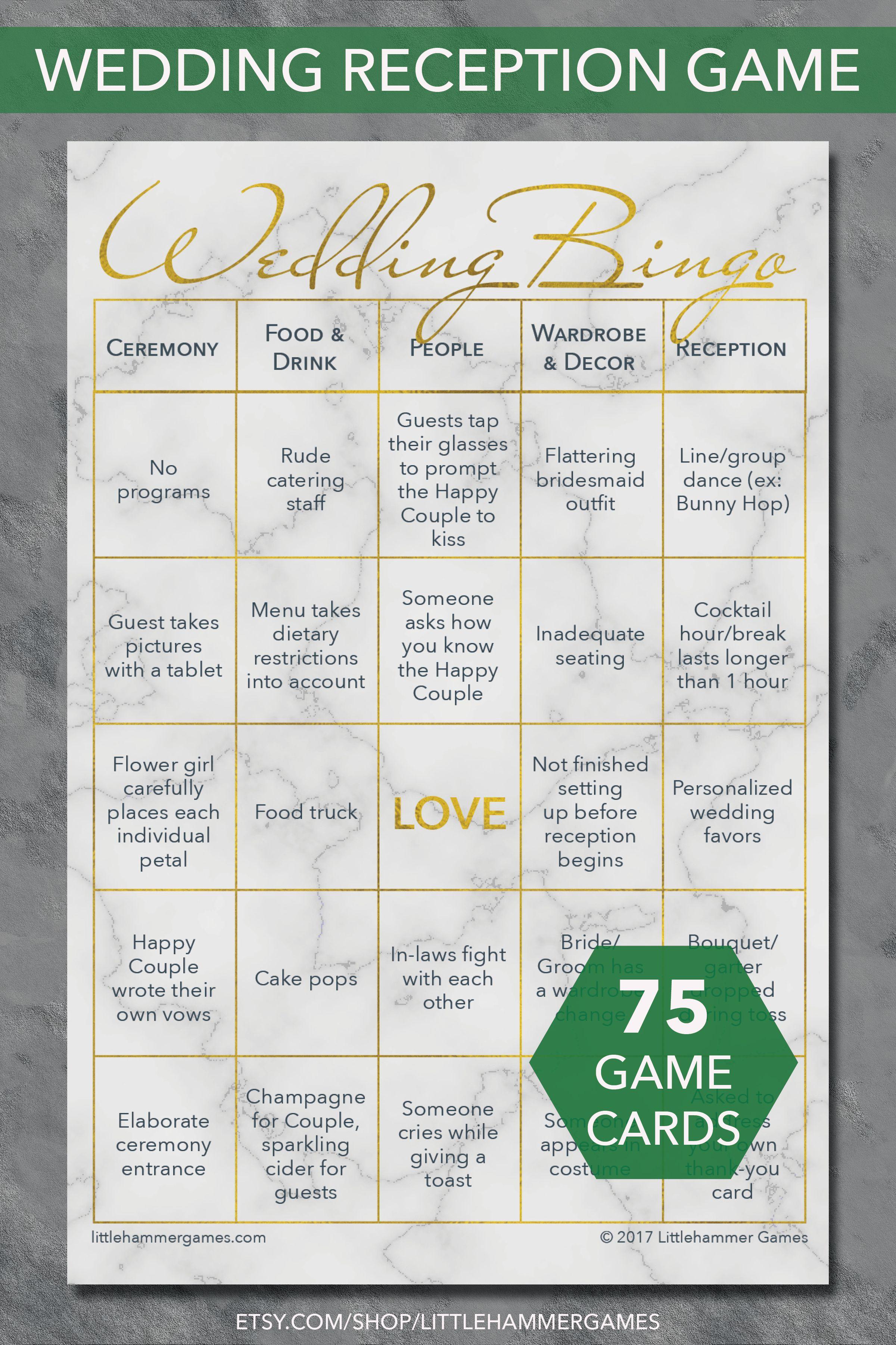 Wedding Table Game Guests Love Wedding Bingo Printable Game Etsy Wedding Reception Games Wedding Bingo Wedding Games For Guests