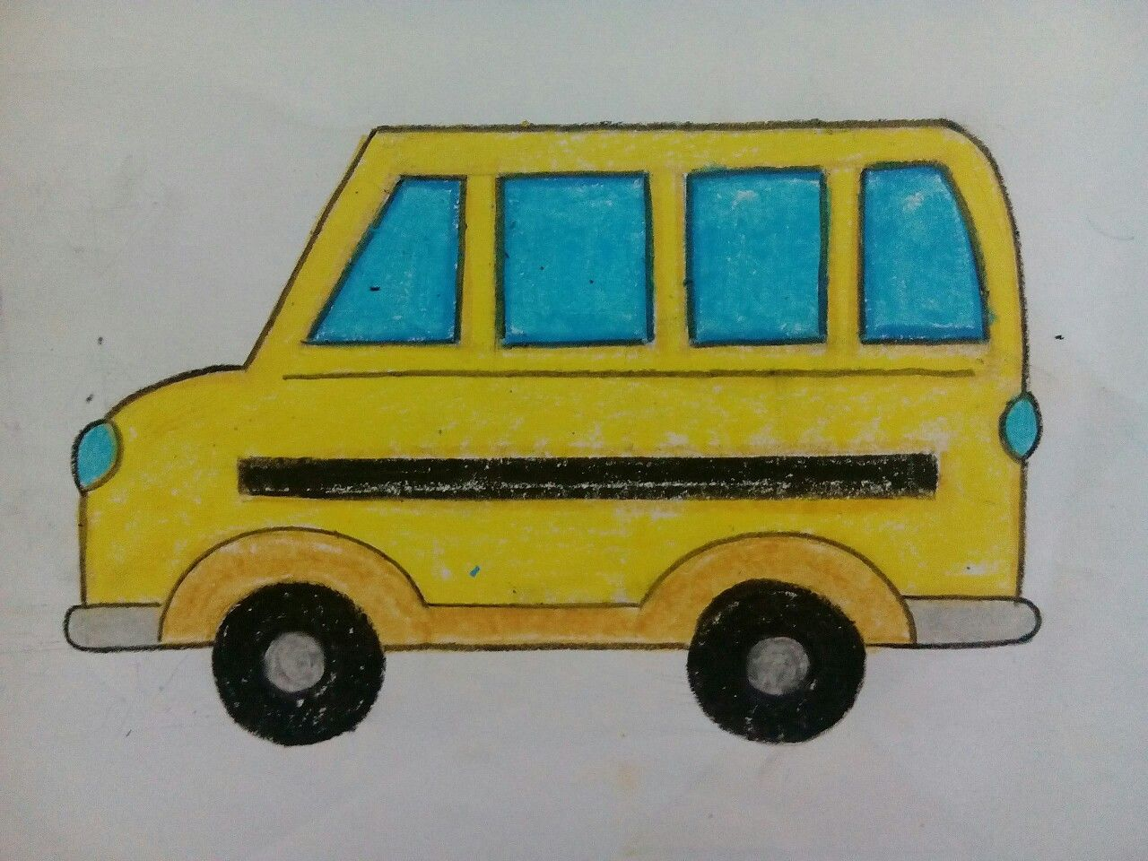 Easy Bus Drawing With Images Easy Drawings Drawing For Kids